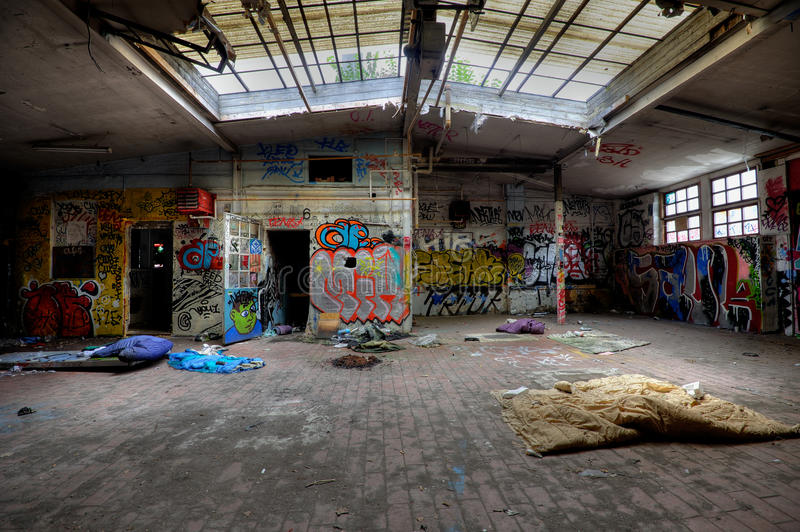 Download Abandoned buildings stock photo. Image of ghetto, grafitti - 20675818