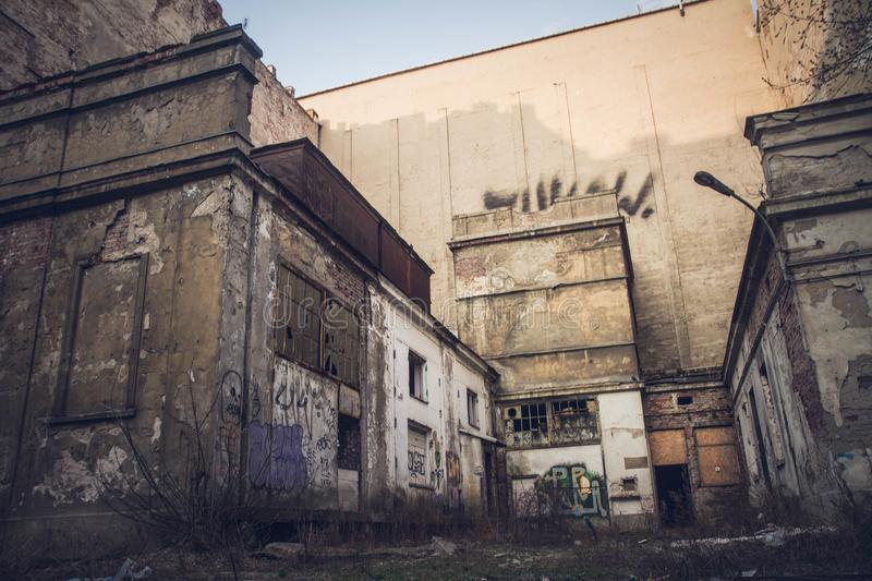 Abandoned buildings royalty free stock photos