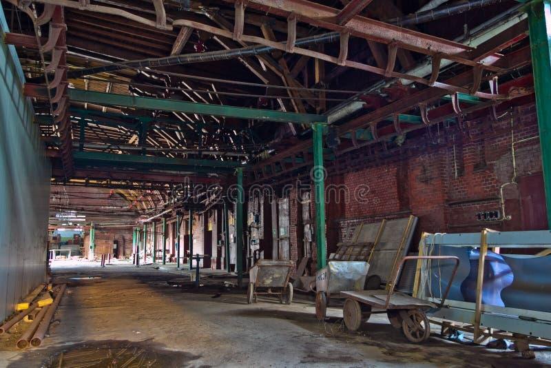 Abandoned butchery in meat processing plant. Slaughterhouse Rosenau, Kaliningra royalty free stock photos