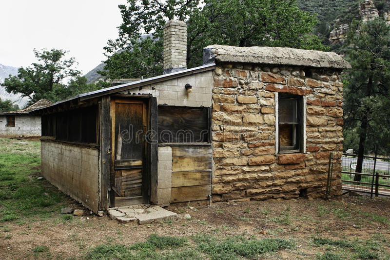 Abandoned Cabin in Arizona State Park royalty free stock image