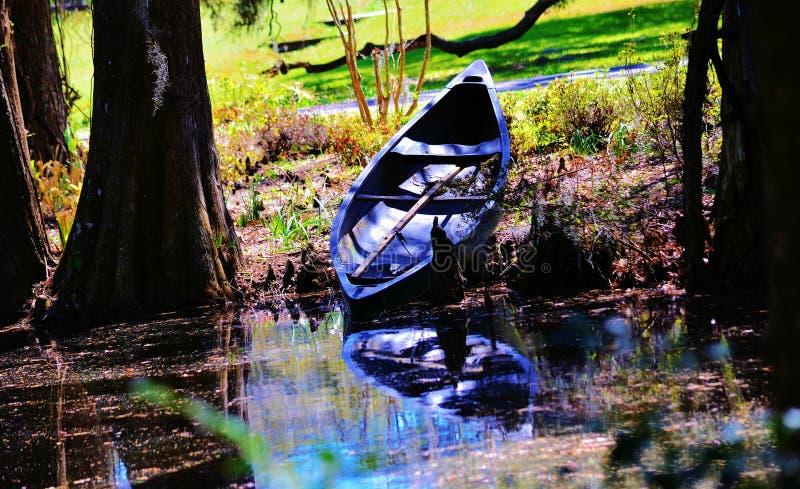 Abandoned canoe royalty free stock images
