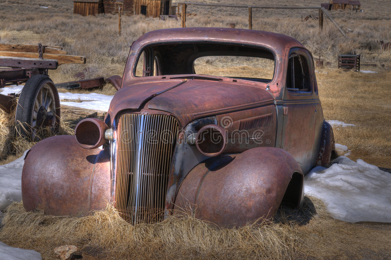 Download Abandoned car stock image. Image of grass, desert, front - 8915751