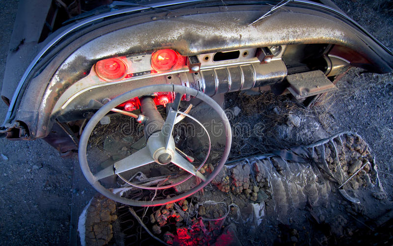 Download Abandoned Car Interior stock image. Image of gauges, grungy - 24401737