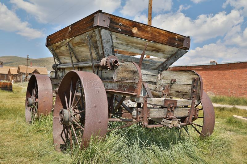 Abandoned cart in Bodie, Ghost Town, California stock photos