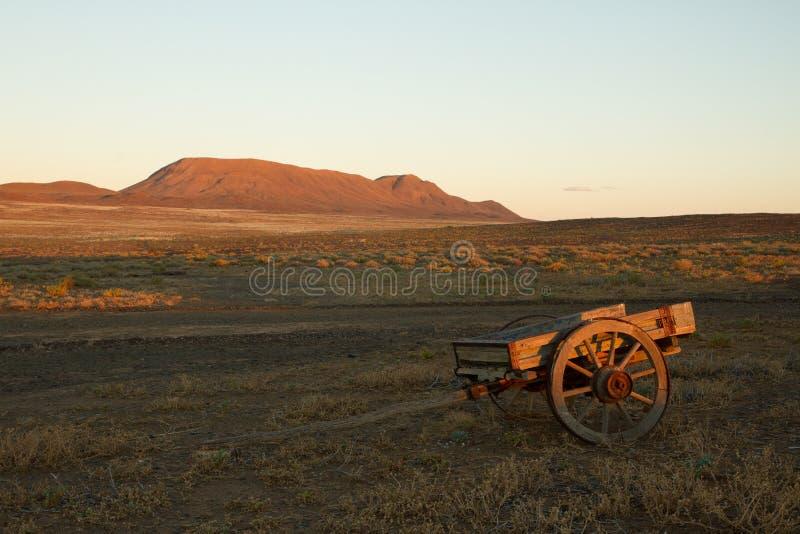 Abandoned cart royalty free stock photography