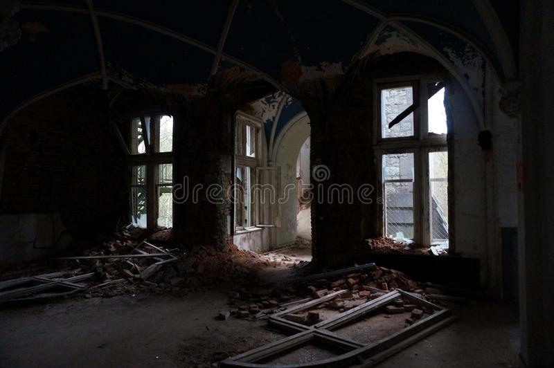 The abandoned castle. The castle begins to fall apart royalty free stock photography