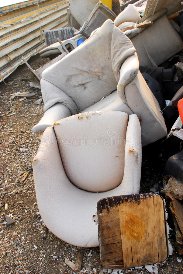 Abandoned chairs stock photography