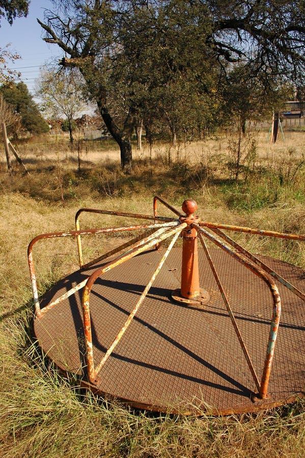 Abandoned Children's Playground stock images
