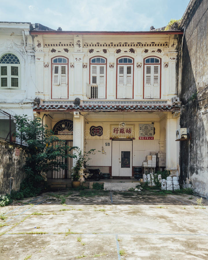 Abandoned Chinese Colonial Old Building In George Town