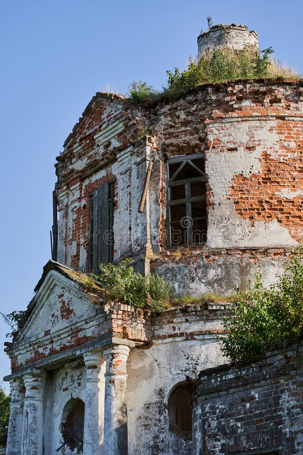 Abandoned Church in the countryside of Russia.  stock image