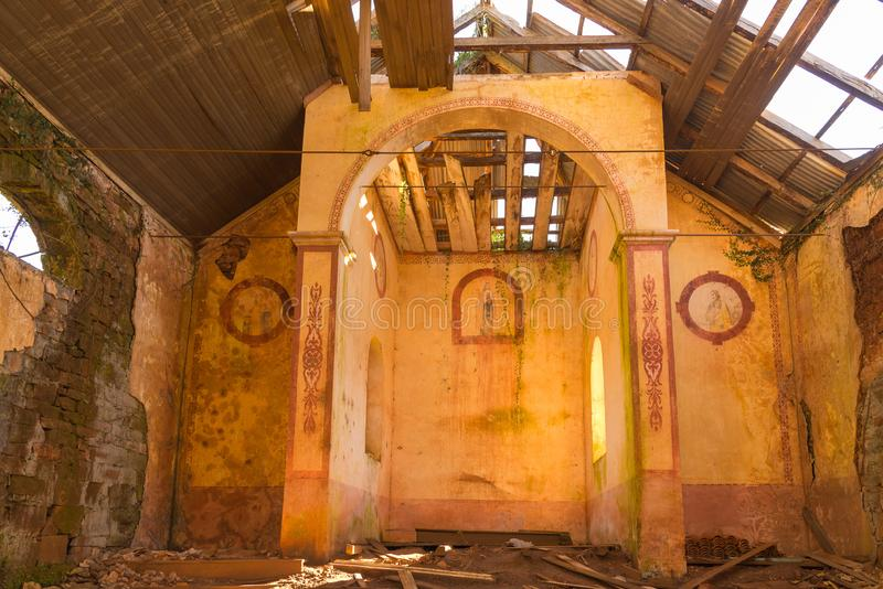 The abandoned church of Monte Bérico 02 stock image