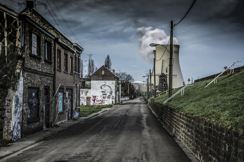 The abandoned city in Belgium. The abandoned Doel city in Belgium royalty free stock photo