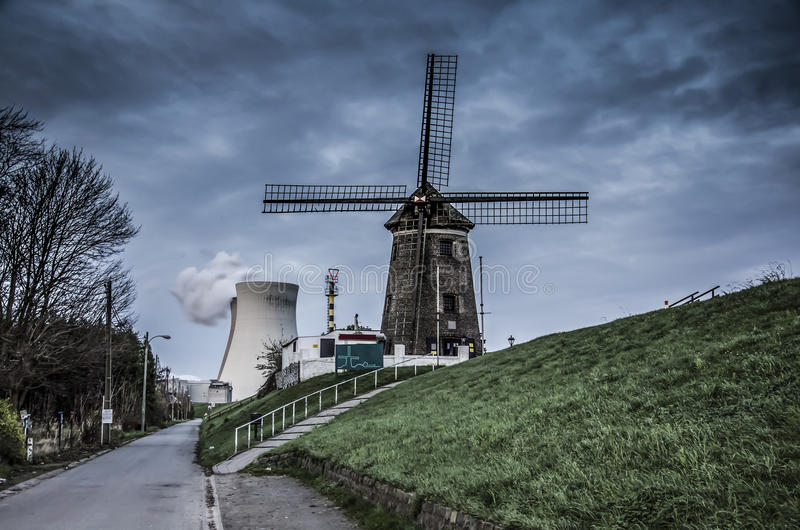The abandoned city in Belgium. The abandoned Doel city in Belgium royalty free stock photography