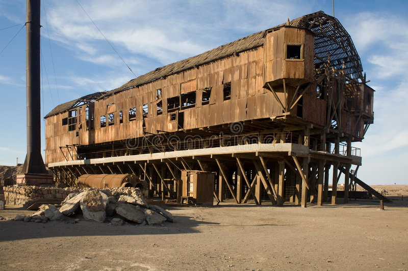 Abandoned City - Santa Laura and Humberstone royalty free stock photography
