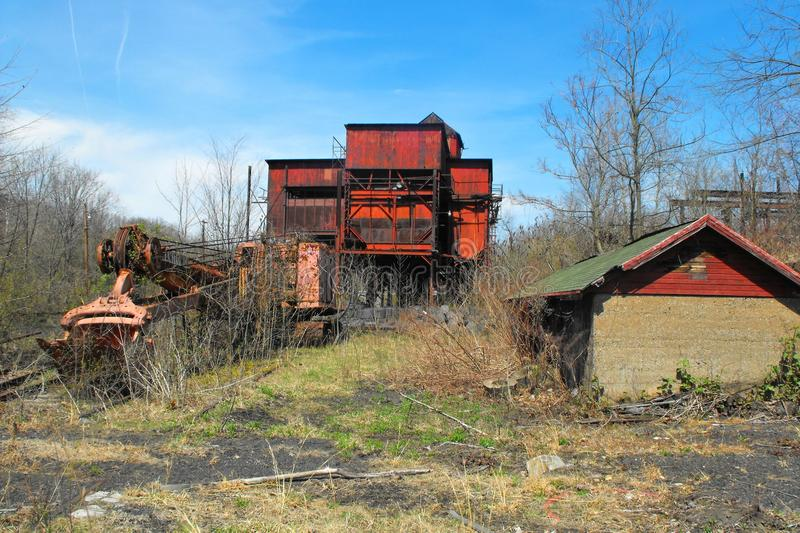 Abandoned coal and coke plant. Abandoned beehive coke plant in Shoaf, Fayette County, Pennsylvania. This is in the Connellsville Coalfield, south of Uniontown royalty free stock photos