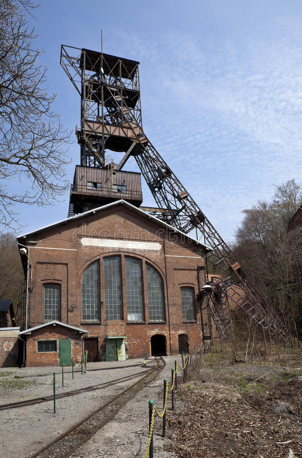 Abandoned coal mine. In Ostrava, Czech republic royalty free stock photo