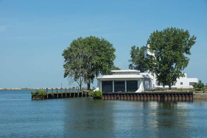 Abandoned Coast Guard Station royalty free stock image