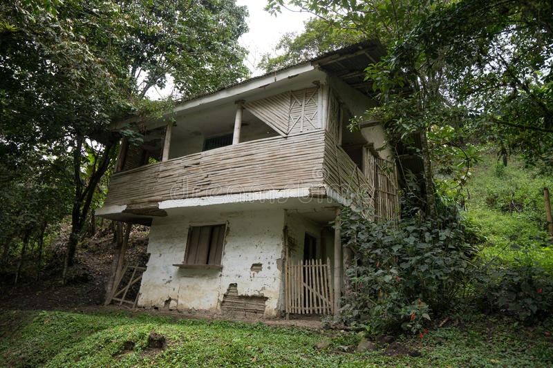 Abandoned Colombian home. Abandoned house in the Tierradentro region of Colombia royalty free stock photos