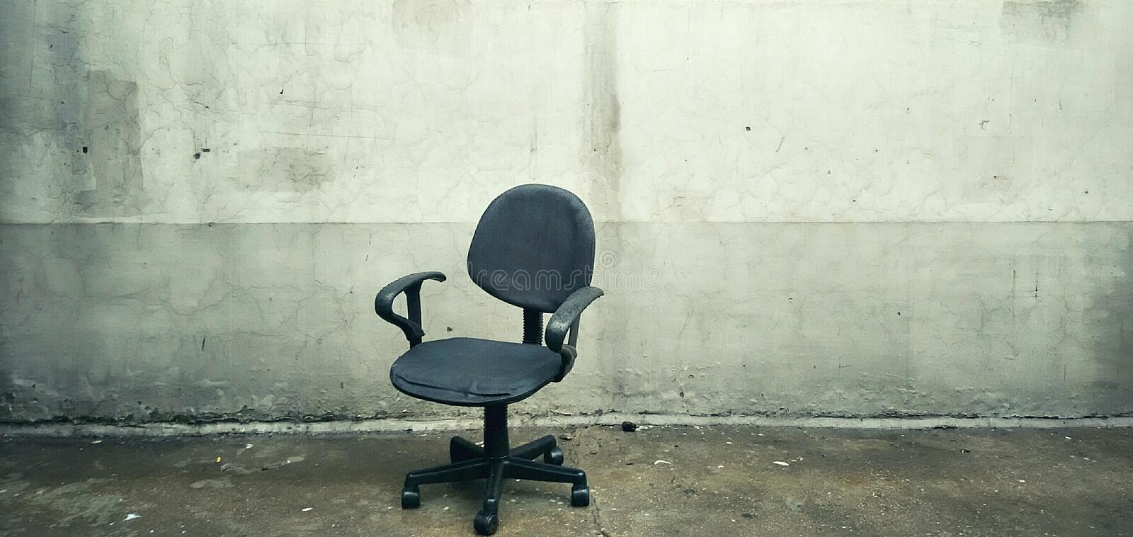 Download An Abandoned Computer Chair Stock Photo - Image: 83723139
