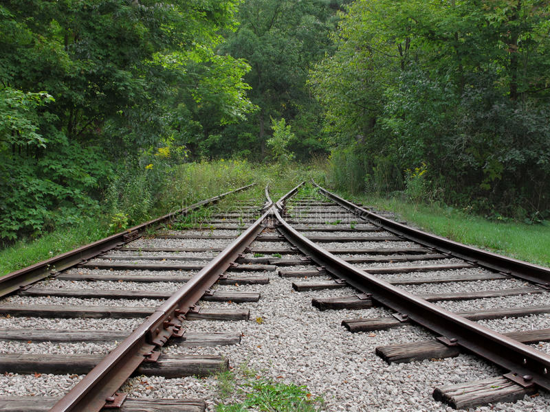 Download Abandoned Converging Railroad Tracks Royalty Free Stock Photography - Image: 26948587