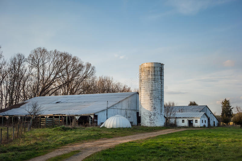 Abandoned countryside farm in the afternoon stock photos