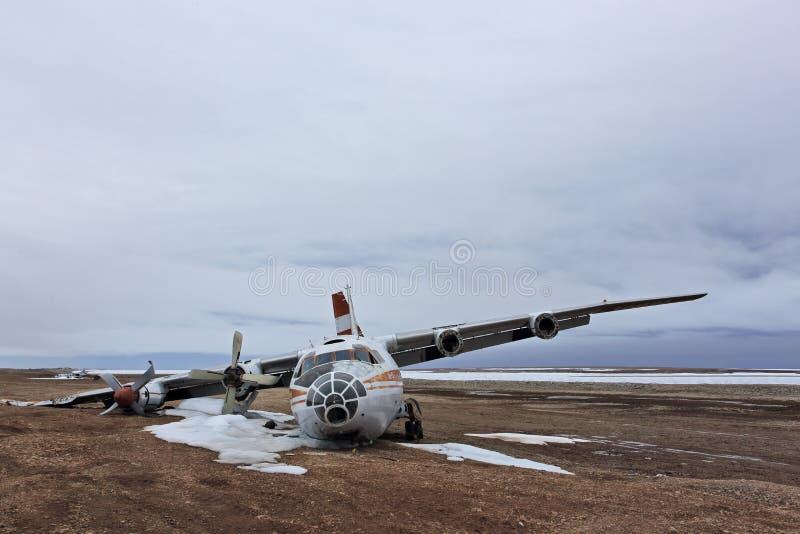 Abandoned crashed plane royalty free stock photography