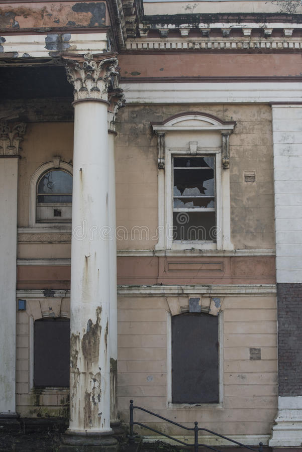 Abandoned Crumlin Road Courthouse in Belfast, Northern Ireland royalty free stock photo
