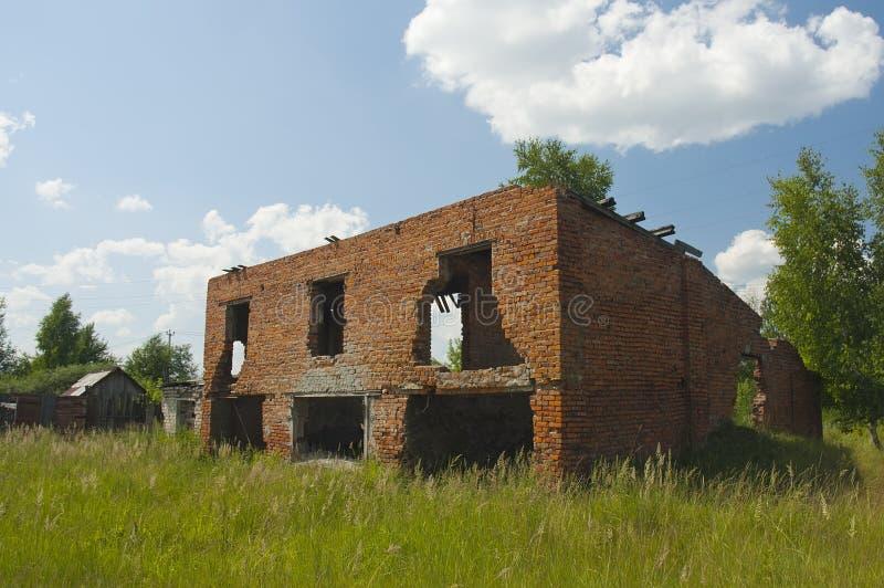 Abandoned damaged house royalty free stock images