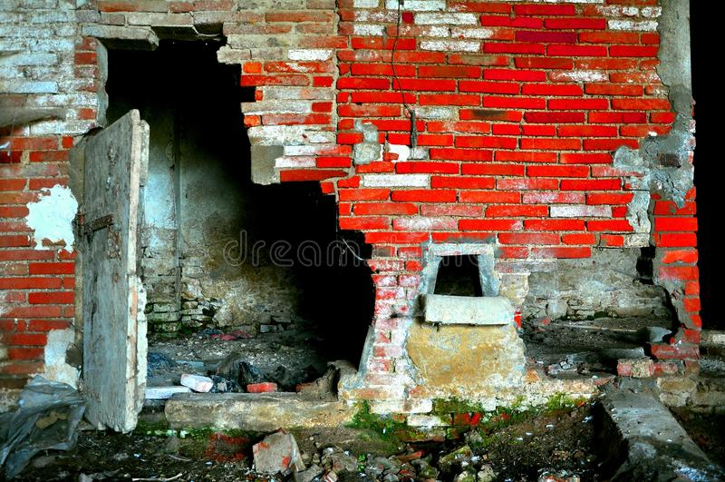 Abandoned , deserted house stock photos