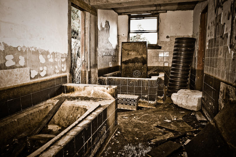 Abandoned and Destroyed Home royalty free stock photo
