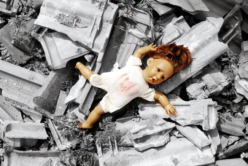 Abandoned doll royalty free stock image