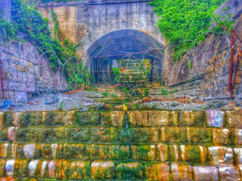 Abandoned drain royalty free stock photo