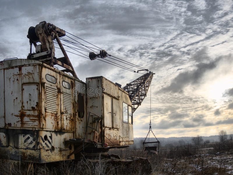 Abandoned Excavator royalty free stock images