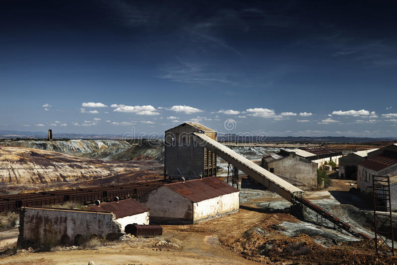 Download Abandoned Facilities stock image. Image of industry, huelva - 12989355