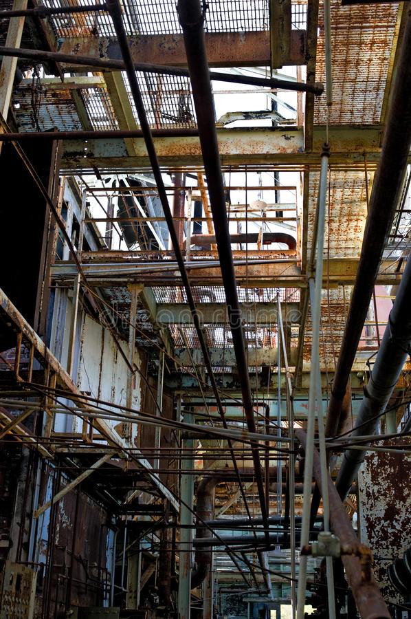 Download Abandoned factory hallway stock image. Image of distressed - 11438661