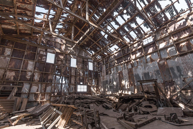 Abandoned factory, Humberstone ghost town, Atacama desert, Chile royalty free stock images