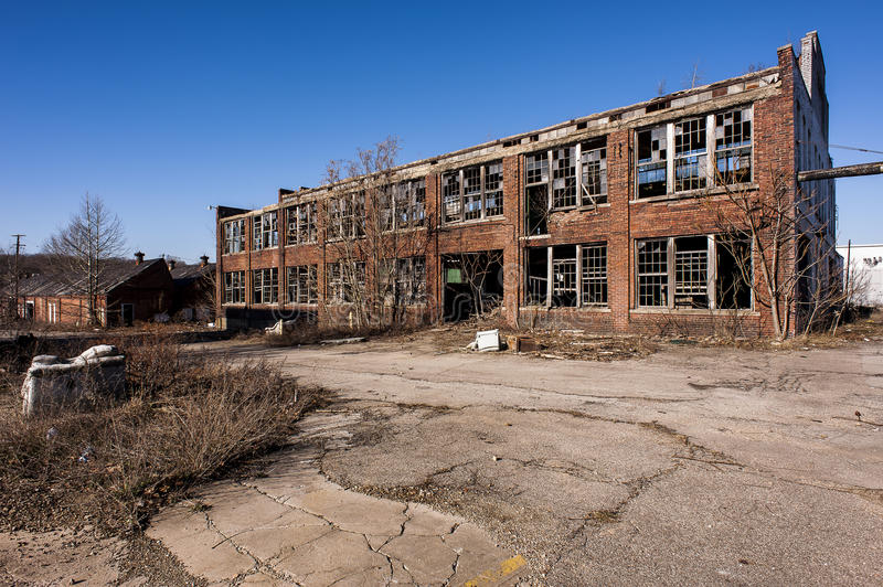Abandoned Factory - Youngstown, Ohio royalty free stock photography