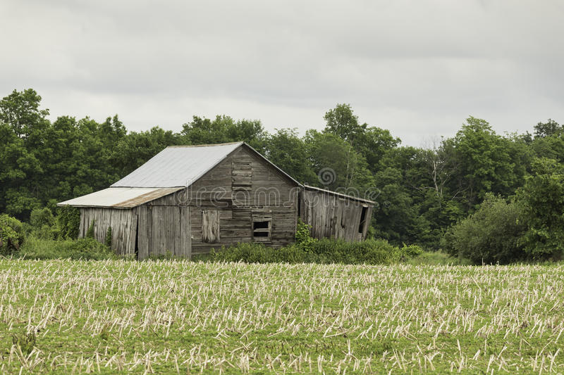 An abandoned farm barn structure royalty free stock photo
