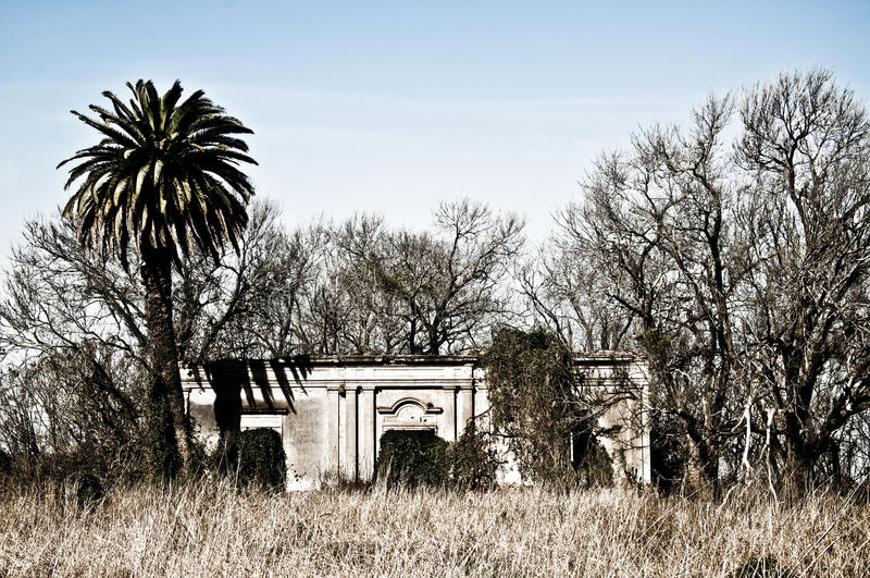 Abandoned farm house royalty free stock photo