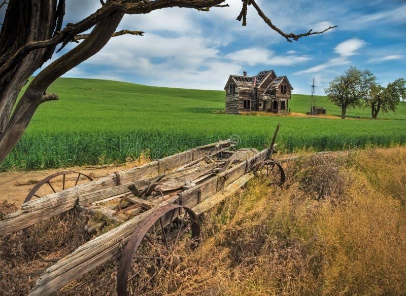 Abandoned farmhouse stock photography