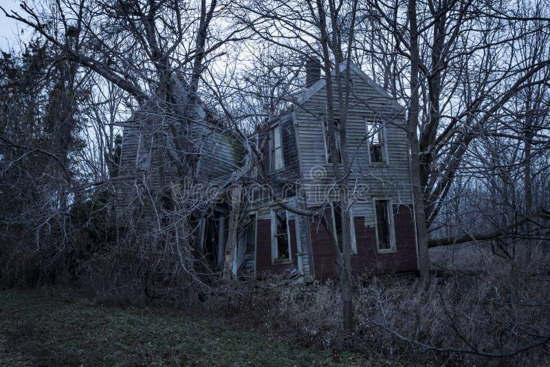 An abandoned farmhouse near Seneca Lake in Hector, NY in the Fingerlakes Region stock photography