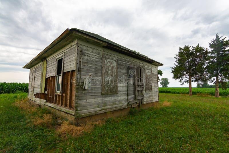 Abandoned farmhouse at sunrise royalty free stock photos