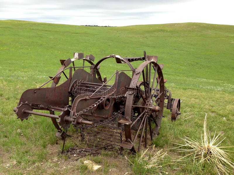 Abandoned farming equipment. Abandoned farming equipment in western USA. Looks to be horse drawn. Probably early 1900s royalty free stock images