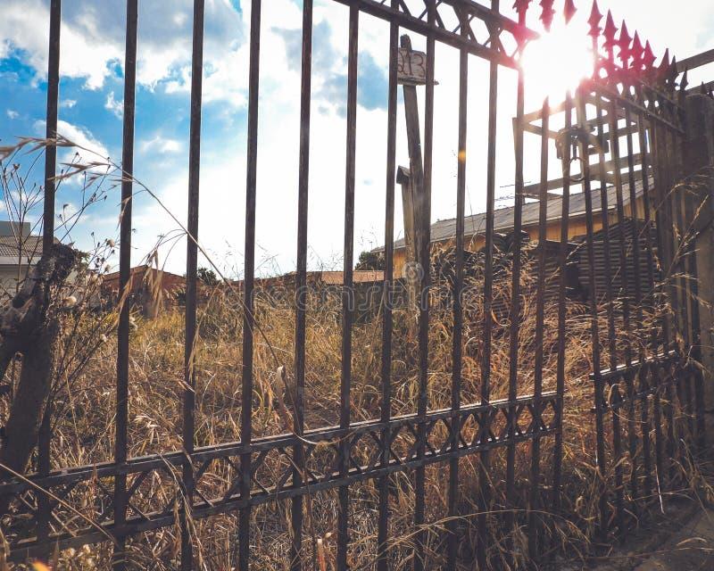 Abandoned fence stock image