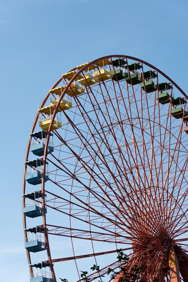 Abandoned ferris wheel royalty free stock photography