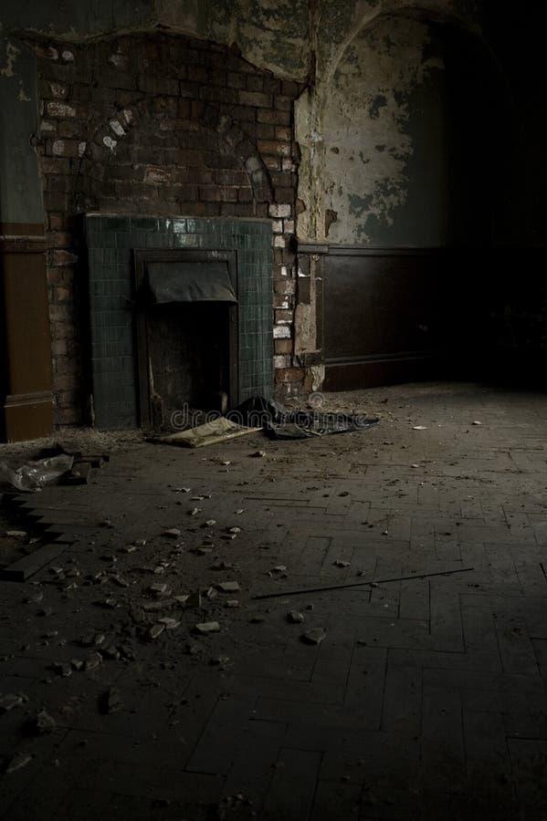 Abandoned Fireplace royalty free stock images