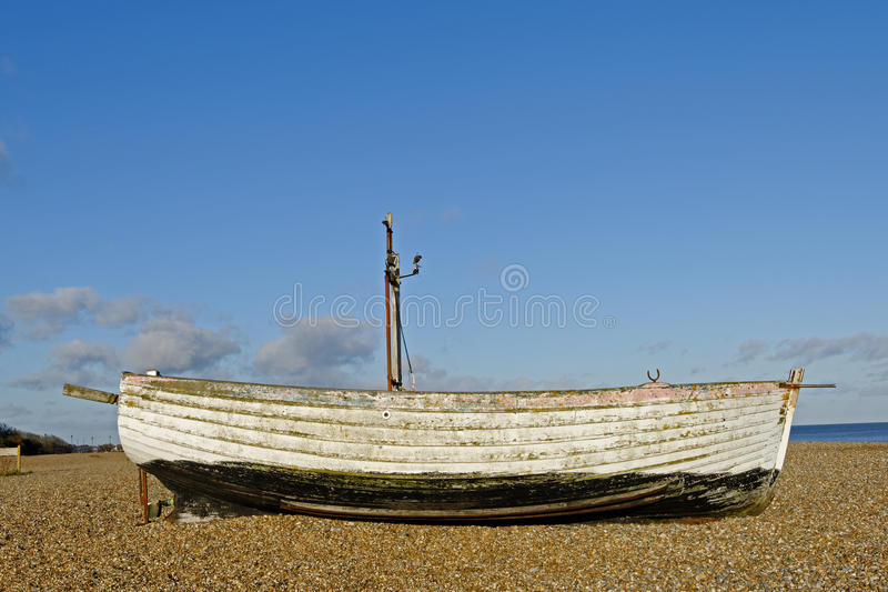 Abandoned Fishing Boat stock photo