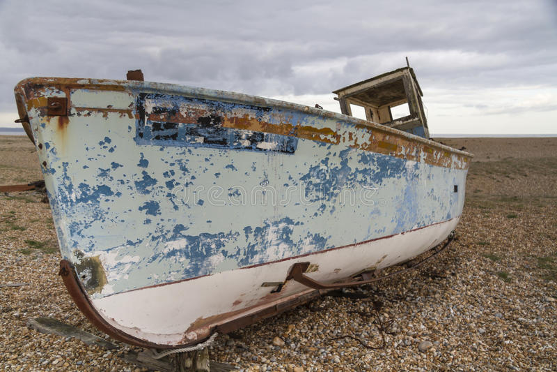Abandoned fishing boat, Dungeness