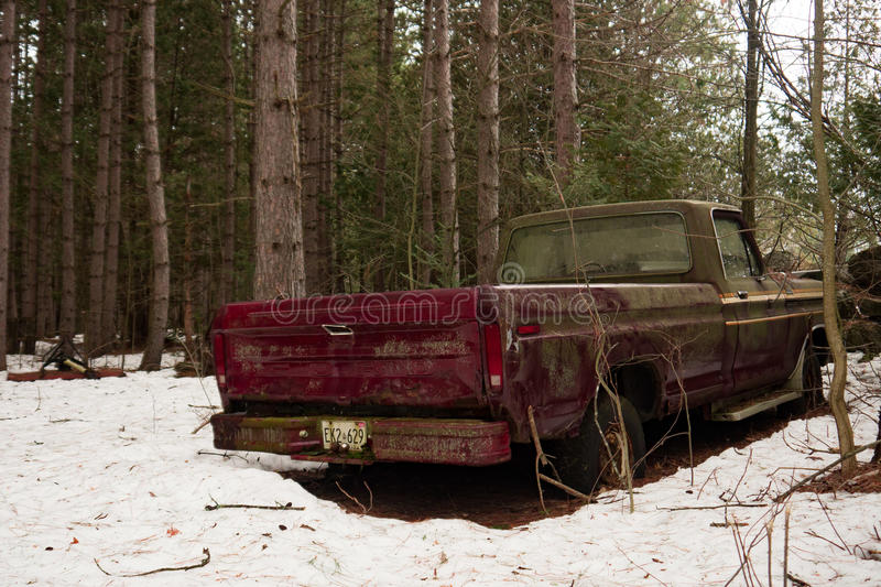 Abandoned Ford Pickup royalty free stock image
