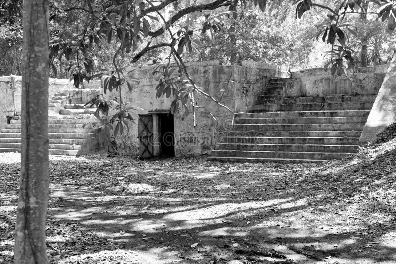 Abandoned fort. Fremont, south carolina, an abandoned spanish american war gun battery royalty free stock photos